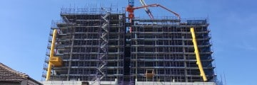 High rise construction survey set out