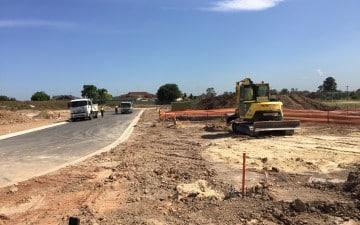 Burdekin Road Quakers Hill land subdivision civil works