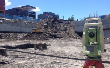 21-23 Morwick Street Strathfield surveyor total station earthworks for basement