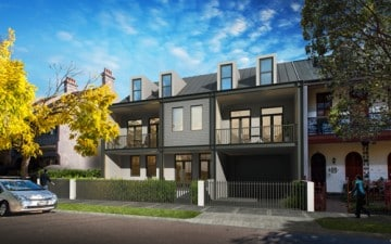 52-54 Pitt Street Redfern development townhouse artists impression