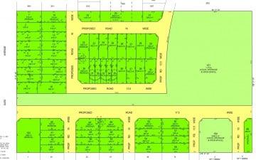 Alex Avenue Schofields land subdivision lot layout