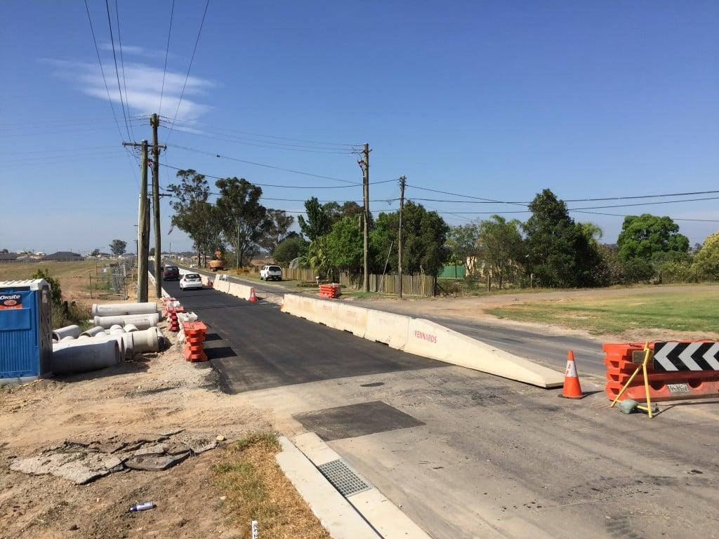 Alex Avenue Schofields land subdivision road construction