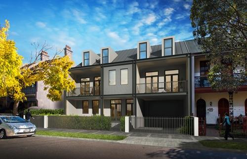 52-54 Pitt Street Redfern development townhouse artists impression