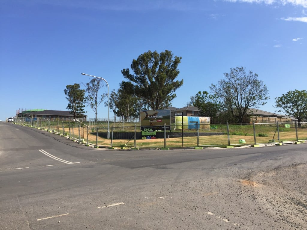 St Albans Road Schofields land subdivision view of OSD and site on completion