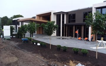 Warriewood Aged Care Acare Construction Set-out Civil earthworks survey