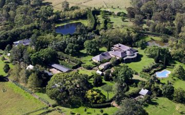 Aerial view of history Fernhill Estate at Mulgoa where SurveyPlus undertook Boundary Marking for NSW Government Planning Industry & Environment